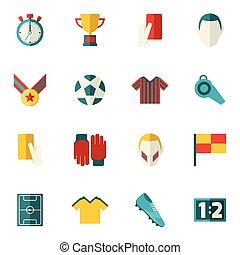 lakás, futball, ikonok