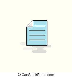 lakás, icon., vektor, dokumentum