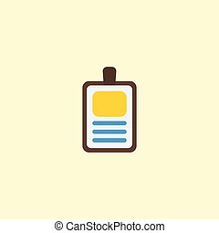 lakás, ikon, azonosítás jelvény, element., vektor, ábra, közül, lakás, ikon, azonosítás, elszigetelt, képben látható, kitakarít, háttér., konzerv, lenni, használt, mint, azonosítás, jelvény, és, azonosítás, symbols.