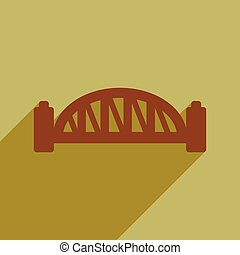 lakás, ikon, noha, hosszú, árnyék, sydney szállás bridzs