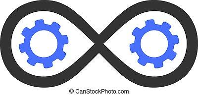 lakás, ikon, perpetuum, mozgatható, vektor