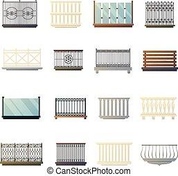 lakás, ikonok, korlátok, gyűjtés, tervezés, erkély