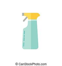lakás, illustration., egyszerű, permetezés, vektor, device., style., ikon