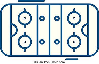 lakás, illustration., ikon, aláír, concept., jelkép, vektor, asztal, egyenes, futball, áttekintés