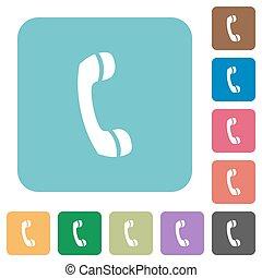 lakás, jelkép, hívás, telefon, ikonok