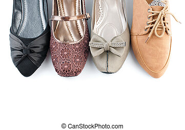 lakás, különféle, cipők, női