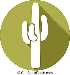 lakás, kaktusz, ikon