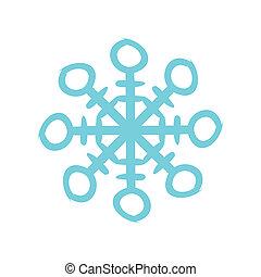 lakás, karácsony, hópehely, ikon