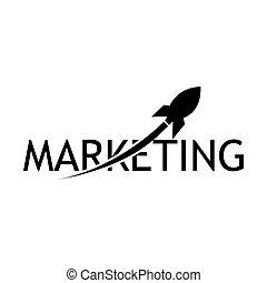 lakás, marketing, ábra, űrhajó, vektor, háttér, icon., fehér