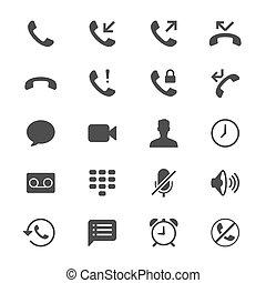 lakás, telefon, ikonok