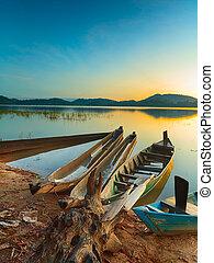 Lak Lake - View of a Lak lake at sunrise