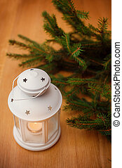 lakberendezési tárgyak, elágazik, fából való, szüret, csinos, asztal, karácsony