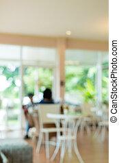 lakberendezési tárgyak, természetes, kert, étterem, szüret, kávécserje, kívül, mód, zöld, belső, kávéház