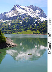 lake., 山, スイス