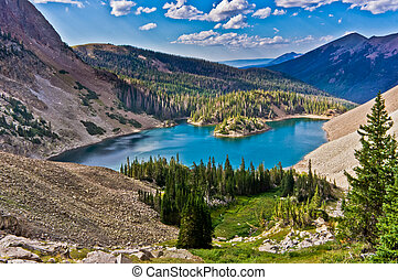 Lake Agnes is a popular hiking and fishing destination in...