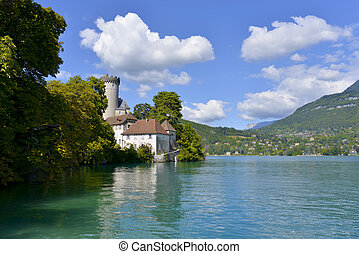 lake Annecy - Medieval castle on the shores of Lake Annecy