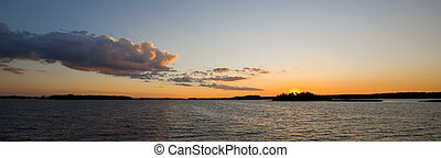 Lake at Days End Panoramic