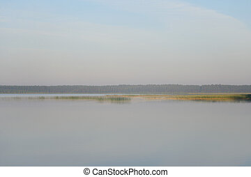 Lake at early morning.