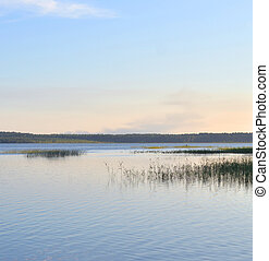 Lake at evening.