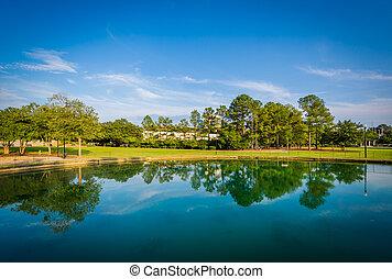 Lake at Finlay Park, in Columbia, South Carolina.