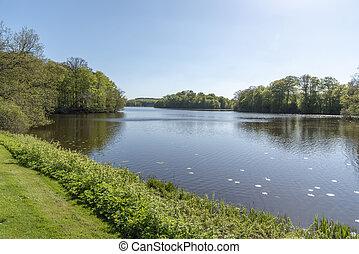Lake at Hackeberga in Sweden