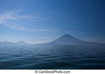 Lake Atitlan and volcanoes