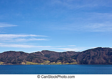 Lake Attersee in spring at Nussdorf