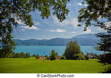 Lake Attersee in summer