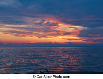Lake Baikal at sunset