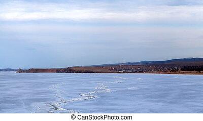 Lake Baikal Khuzhir timelapse - Lake Baikal nature landscape...
