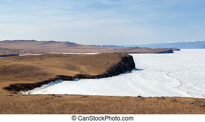 Lake Baikal nature spring Olkhon Island timelapse - Lake...
