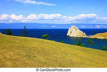Lake Baikal. Olkhon island. Cape Burkhan.