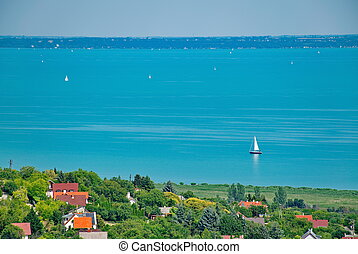 Lake Balaton at summer