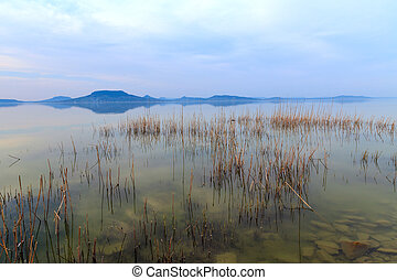 Lake Balaton-Hungary - Beautiful sunset in lake...
