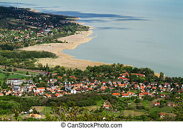 Lake Balaton on Hungary from above