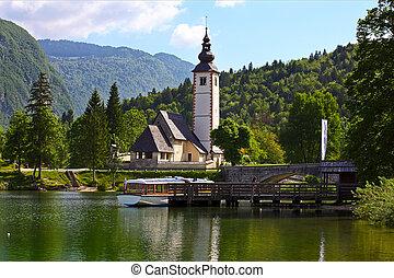 Lake Bjhij, Slovenia - The church dedicated to John the...