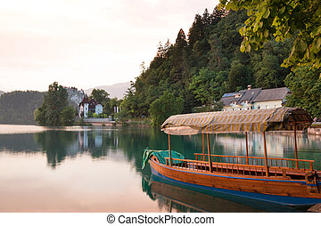 Lake Bled at sunset