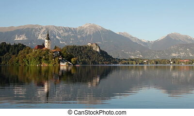 Lake Bled, Slovenia - Lake Bled in Slovenia with the...