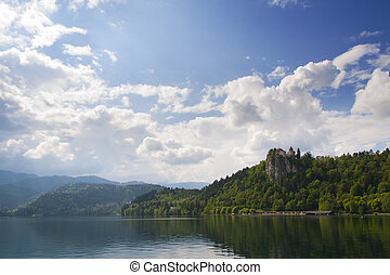 Lake Bled with castle Bled