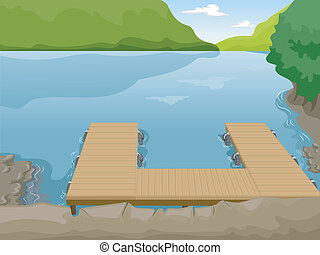 Lake Boat Dock