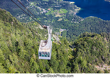 Lake Bohinj from Vogel cable car top station, Slovenia, Alps