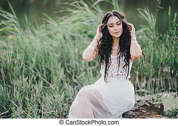 lake., boho, vestire, donna, proposta
