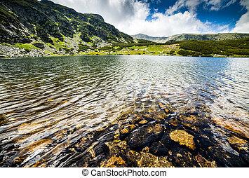 lake Calcescu in Romania