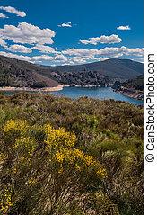 Lake camporredondo in Palencia, Castilla y Len, Spain.