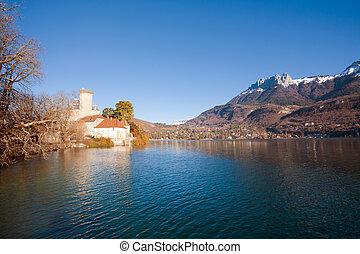 Lake Castle Alps