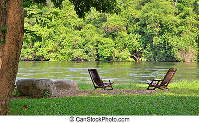 Lake chairs and River