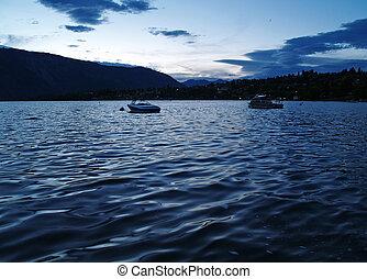Lake Chelan at Night in Washington State