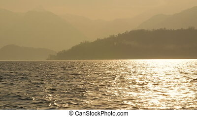 Lake Como in Italy at the dusk