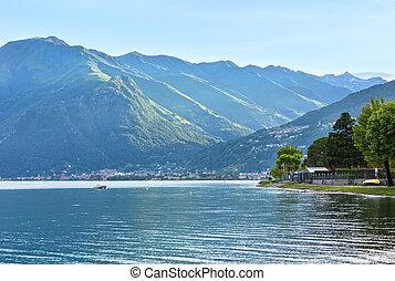 Lake Como (Italy) summer evening view