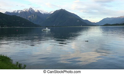 Lake Como (Italy) summer view